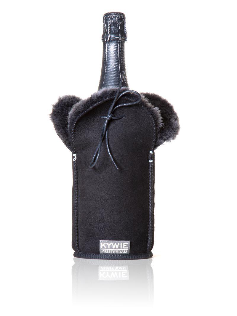 Champagnekoeler Zwart Suede