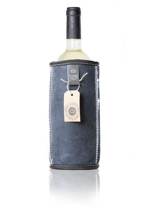 Wijnkoeler Blauw Suede