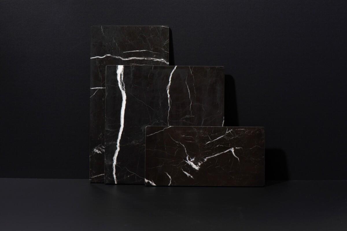 Zwart Marmeren Serveerplank L