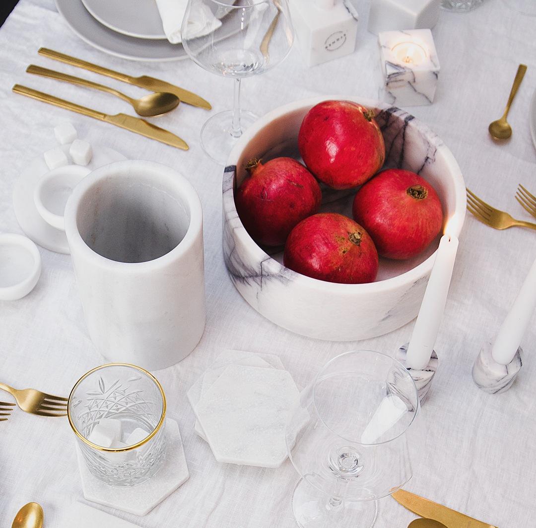Wit Marmeren Fruitschaal