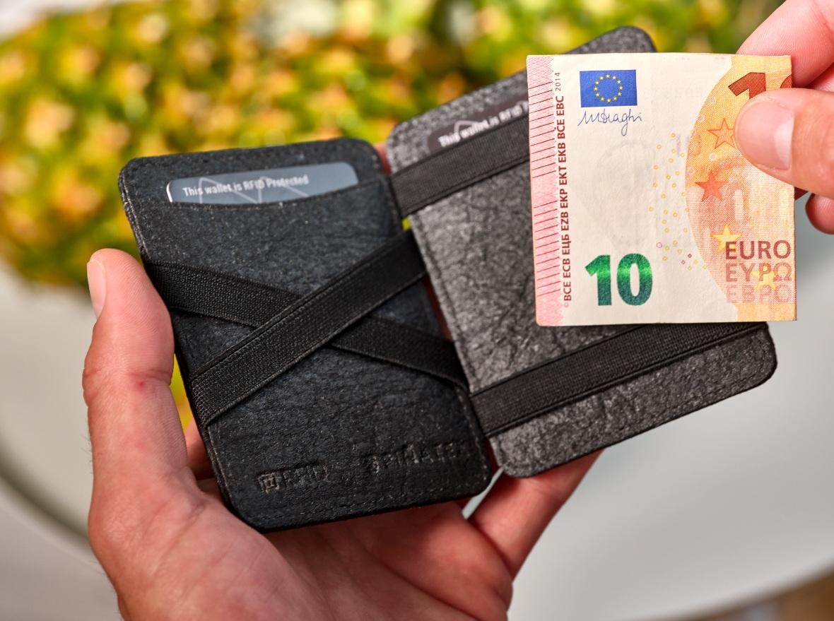 Magic Wallet Vegan Charcoal